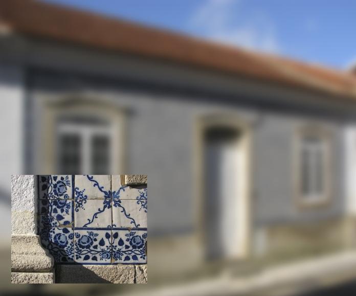Ovar, Edifício na Rua Alexandre Herculano, n.º 117, pormenor do emolduramento [© Sónia Magdalena Cardoso]