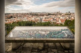 Fred Kradolfer | Leitor Panorâmico | Lisboa | Miradouro do Monte Agudo | 1965 [Foto: © CML | DPC | José Vicente 2015]